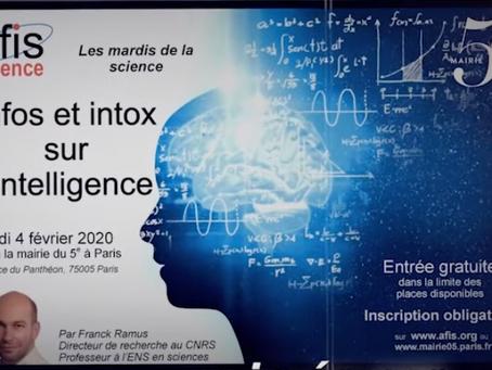 Infos et intox sur l'intelligence : retours sur la conférence de Franck Ramus pour l'AFIS