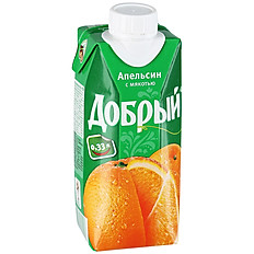 Сок апельсиновый 0,33