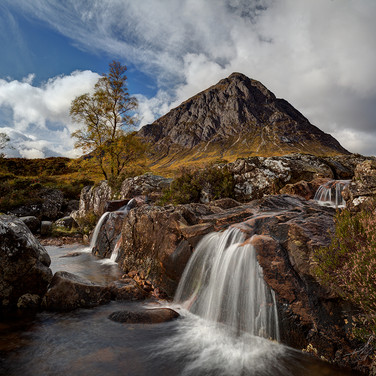 Coupall Falls towards Buachaille Etive M