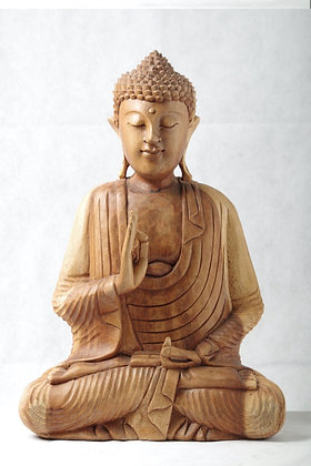 Wooden Buddha Statue  18 inches   high