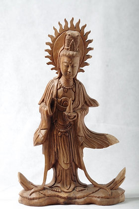 Wooden Guanyin (Kwanyin)  15.5 inches high
