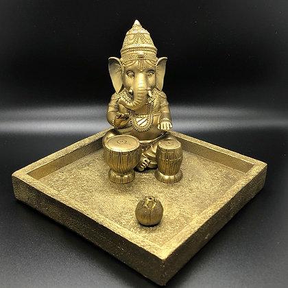 Ganesh ( Ganesha ) with Percussions  Incense holder ( I-11)