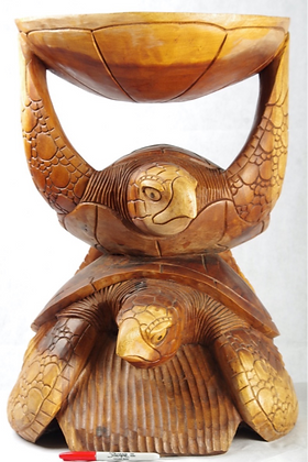 Wooden Double Turtle 23.5inches high