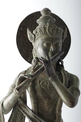Metal Krishna 24.5 inches high