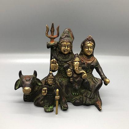 Shiva, Parvati, Ganesh, Kuma statue (A-13)
