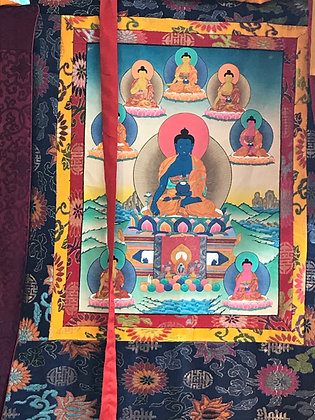 Medicine Buddha Thanka painting from Nepal