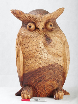 Wooden Owl 19.5 inches high