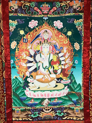 Ganesh Thanka Painting