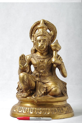 Brass Hanuman 15 in high statue