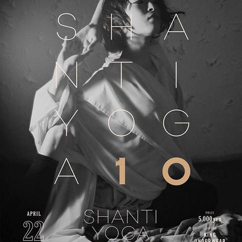 SHANTIYOGA 10周年ポスター