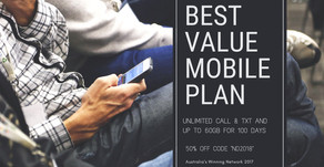 Up to 60GB of Data 50% Off - New 100 Days Mobile Plan and Unlimited Call & TXT