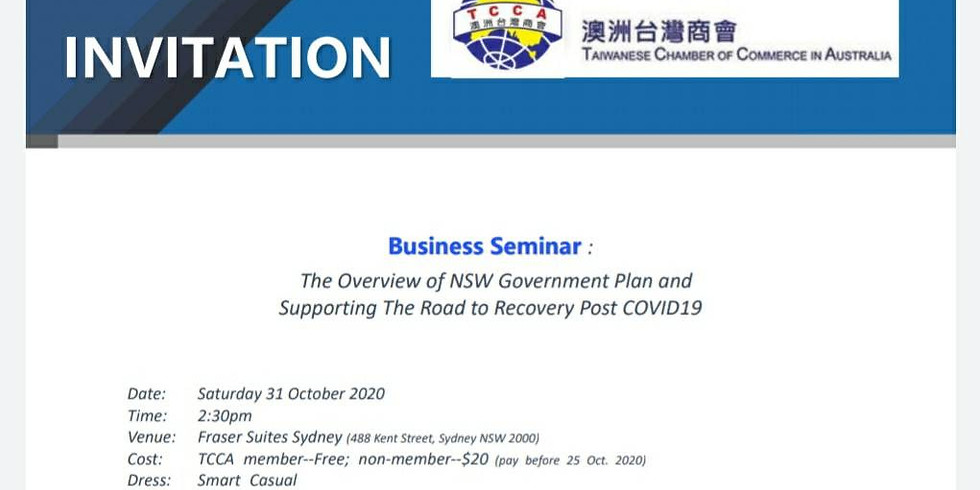 The Overview of NSW Government Plan supporting the Road to Recovery Post COVID19