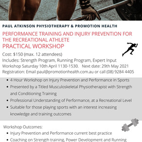 Performance training & Injury prevention for the recreational athlete - Practical workshop