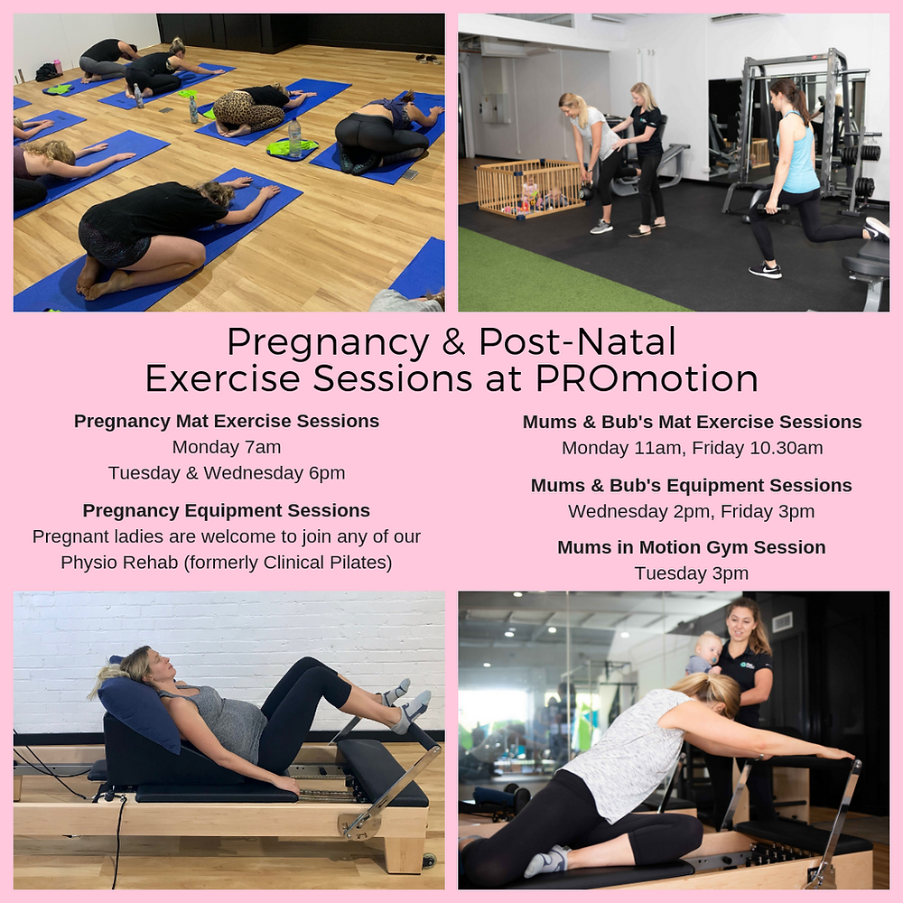 Pregnancy & Post-Natal  Exercise at PROmotion