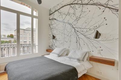 un lit sous les arbres malma architecture