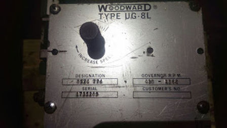 UG8L WOODWARD GOVERNOR Designation no- 8520 774, rpm 438-  1362, sr no-1735289 WE HAVE FOR SALE IDEA
