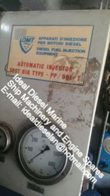 OMT AUTOMATIC INJECTOR TEST RIG TYPE PP/001/T – IDEAL DIESEL MARINE -E-mail: idealdieselsn@hot