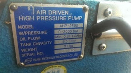 AHP 2500 HANMI HYDRAULIC MACHINERY CO LTD AHP2500 W/PRESSURE 0-2000 BAR E-mail: idealdieselsn@hotmai