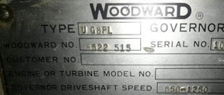UG8PL GOVERNOR We have for sale UG8-PL WOODWARD Governor 2 pieces we have for sale woodward no H8520