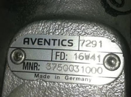 AVENTICS 7291 FD: 16W41 MNR: 375003 1000 new valve- Made in Germany, we have for sale EMAIL: idealdi