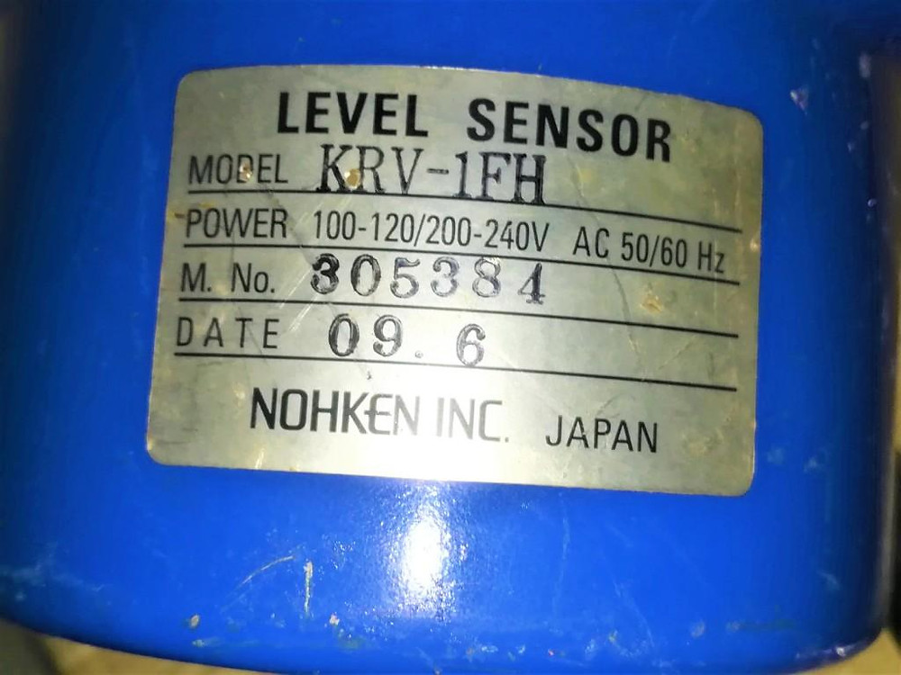 KRV-1FH NOHKEN INC. JAPAN Level Sensor