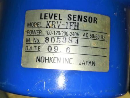 For Sale: KRV-1FH NOHKEN INC. JAPAN Level Sensor Email:idealdieselsn@hotmail.com