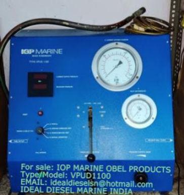 For sale: : VPUD1100 IOP MARINE OBEL PRODUCTS FUEL VALVE TESTER Type/Model: VPUD1100 EMAIL: idealdie
