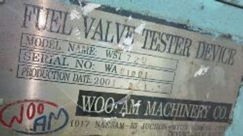 WOO AM MACHINERY CO FUEL VALVE TESTER DEVICE MODEL NAME WST AND OTHERS FOR SULZER RTA SERIES and B&a
