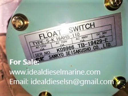 For Sale: Sankyo Seisakusho S-K 16AHS-110 Float Switch SK16AHS110, S K 16AHS 110 sankyo