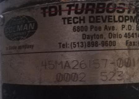 45MA27751-001 0002 523 TDI AIR STARTER Turbo Twin Air starter TDI STARTER 45MA27751-001 0002 523 We