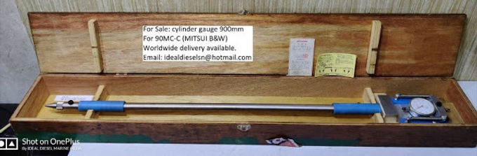 For sale: cylinder gauge 900mm for 90MC-C MITSUI B&W worldwide delivery available Email: idealdi