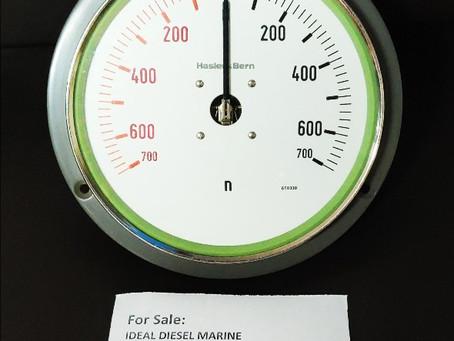 For Sale: Hasler Ag Bern Rpm indicator (0-700) Sulzer 40/48 Ins. Nr. : 658330