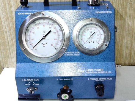 For Sale: AHP-1500 Hanmi hydraulic co Ltd Air Driven High pressure pump
