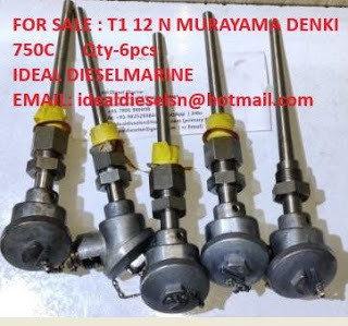 T1-12 N THERMOCOUPLE MURAYAMA DENKI LTD T112 N. No. 008.1 NK TYPE TEST NO No.83A117 k-CLASS 2-1.6 –