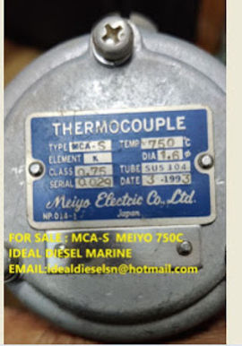 MCA-S MAIYO ELECTRIC THERMOCOUPLE 750C ELEMENT K X 12MM X26MM X 298L new 3pcs for sale: IDEAL DIESEL