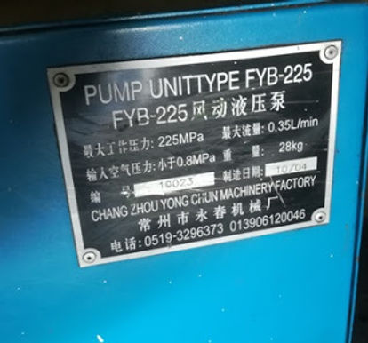 FYB-225 CHANG ZHOU YONG CHUN MACHINERY FACTORY PUMP UNIT TYPE FYB 225 we sale and export in reasonab