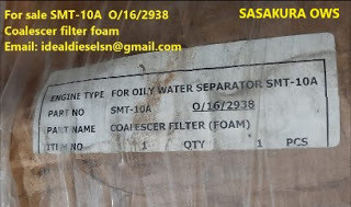 SMT-10A SASAKURA O/16/2938 Coalescer filter foam and membrane for OWS SMT-10A for sale Email: ideald