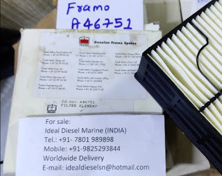 For sale A46751 FRAMO Filter Element Available Email: idealdieselsn@gmail.com Hyd. Power pack diesel
