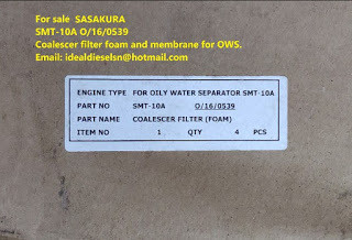 SMT-10A SASAKURA O/16/0539 Coalescer filter foam and membrane for OWS SMT-10A for sale Email: ideald