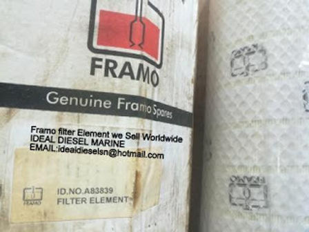 A83839 FRAMO FILTER replace id no A74074 Framo Power unit mounted filter box drwg: no 344 -577-2 Qty
