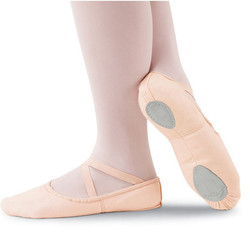 Pink Canvas Ballet Shoe