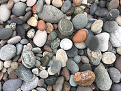 Iona Colour pebbles, grey ring stone.JPG