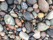 Iona Coloured pebbles, ring stone.JPG