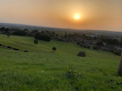 A view from the hill behind