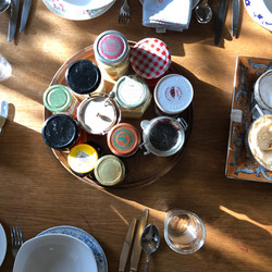 Our array of condiments