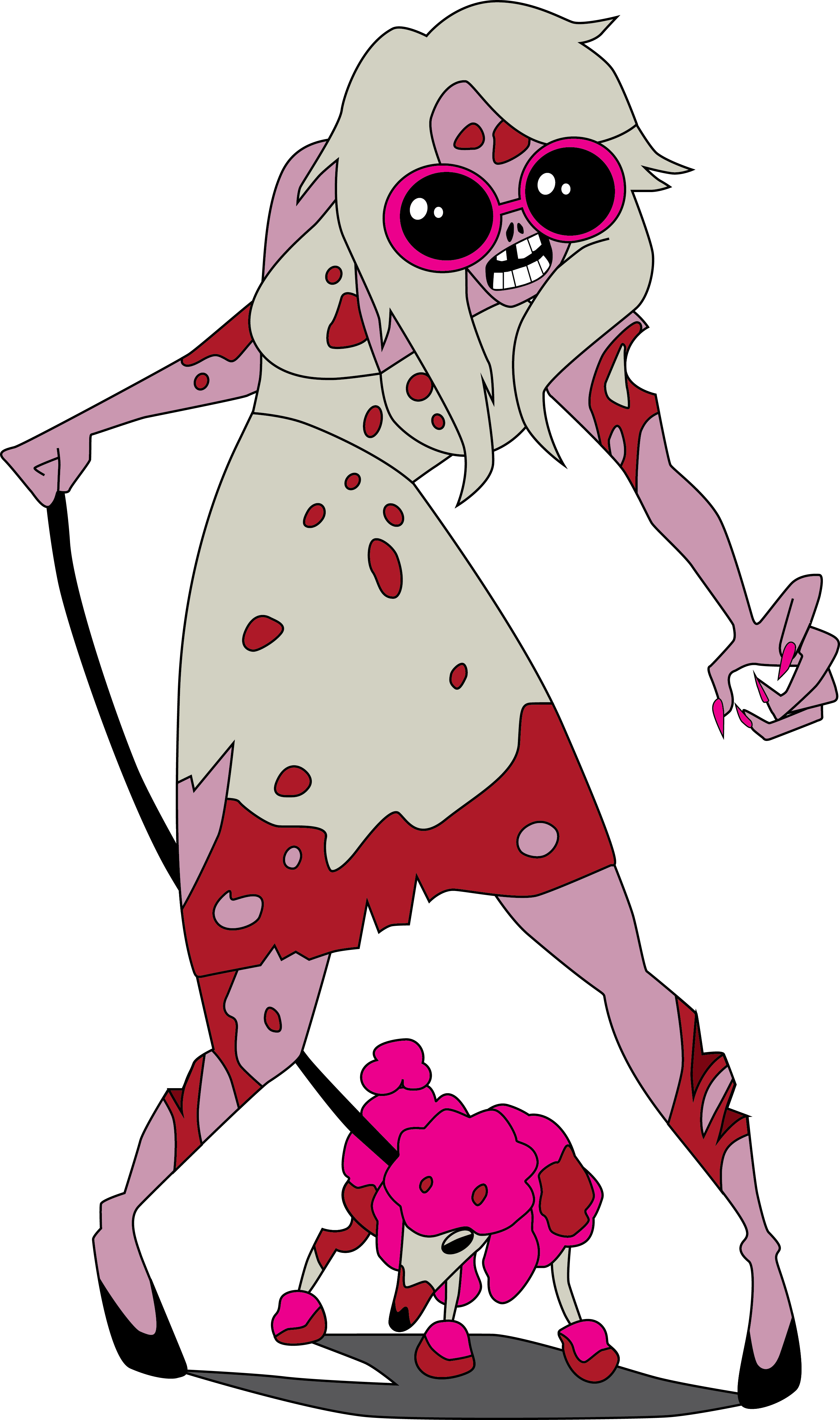 Zombie Girl A3