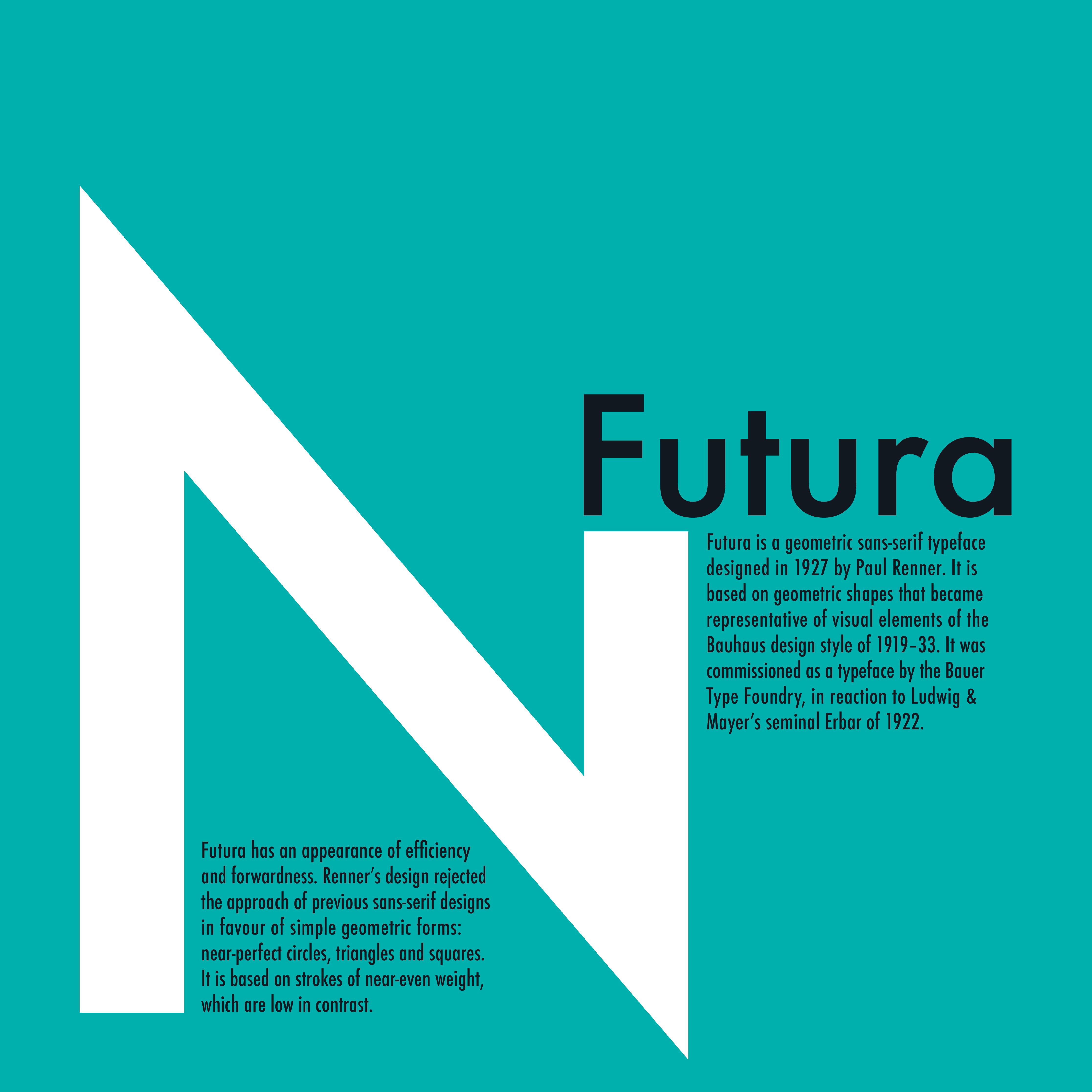 Futura Type Card 2