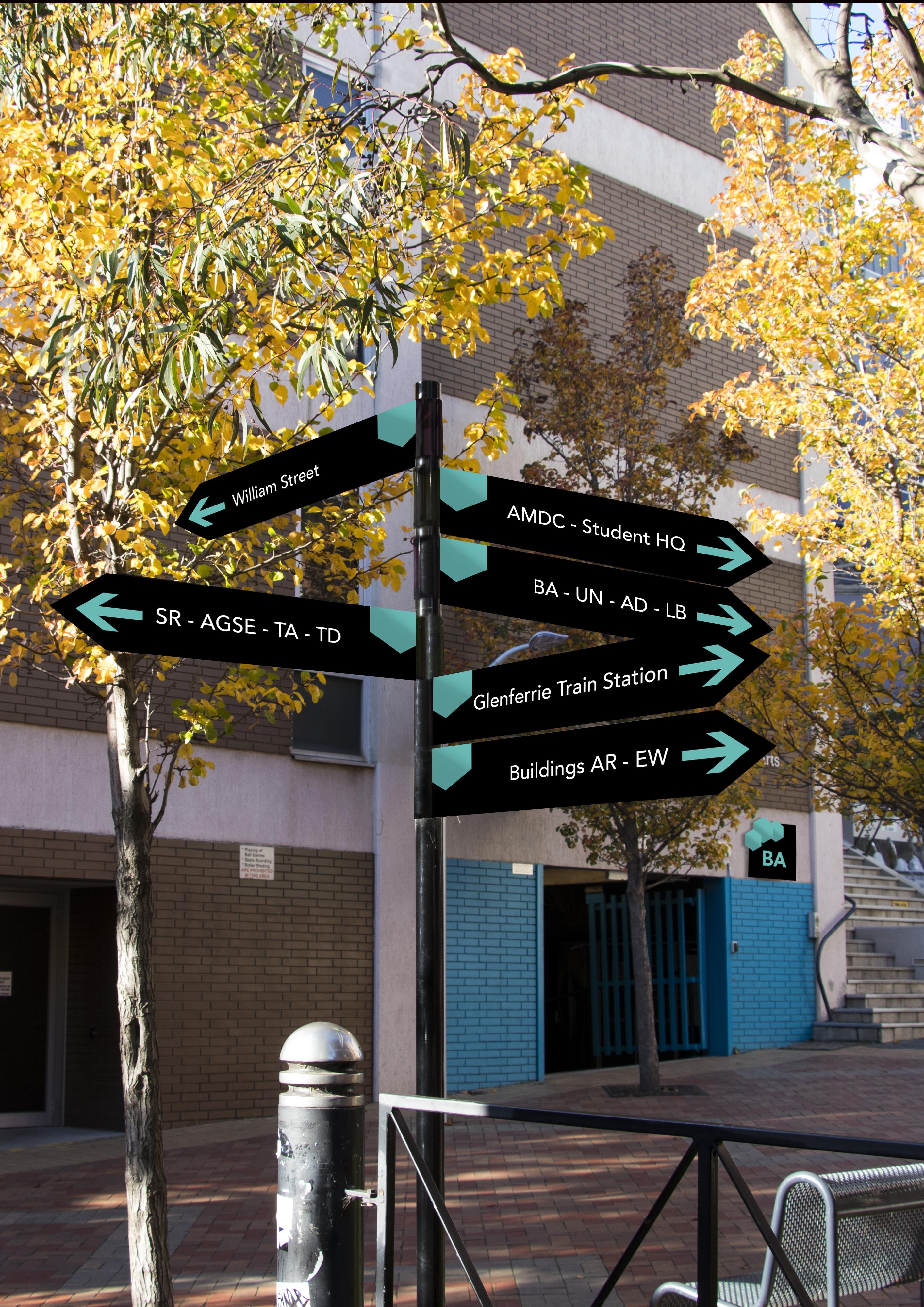 Path Sign Mockup