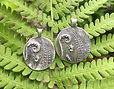 1 Fiddlehead Fern Fairy Garden Necklaces