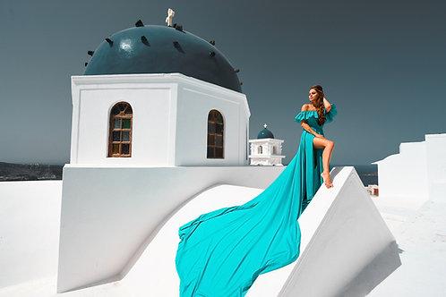4. Turquoise dress